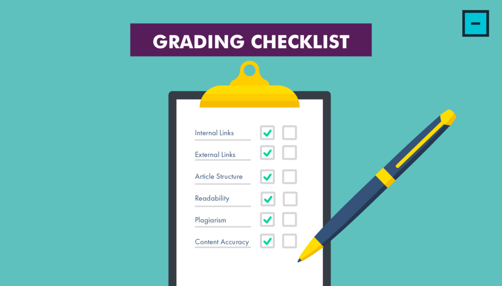 Content Writing Services Grading Checklist