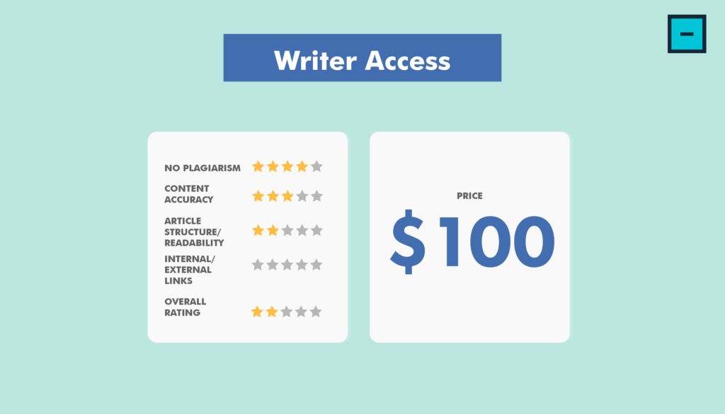 Writer Access - Content Writing Services Comparison