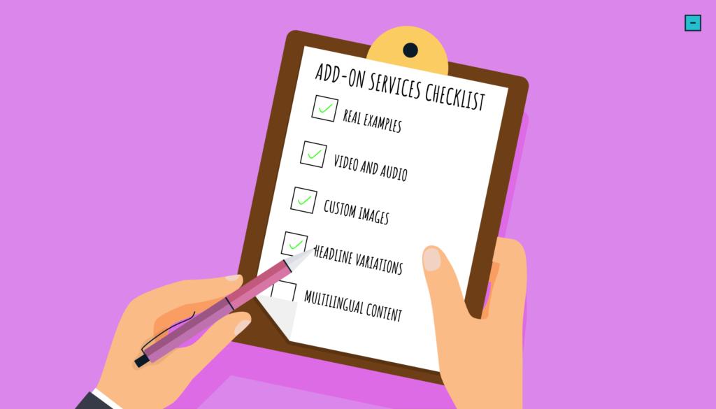Add-On Content Services Checklist