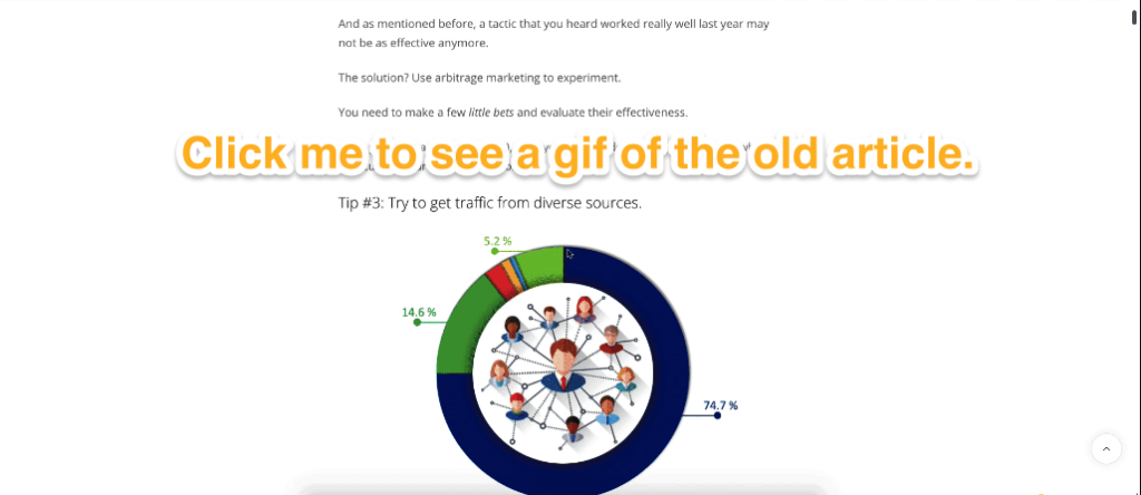 Content marketing case study - old article version