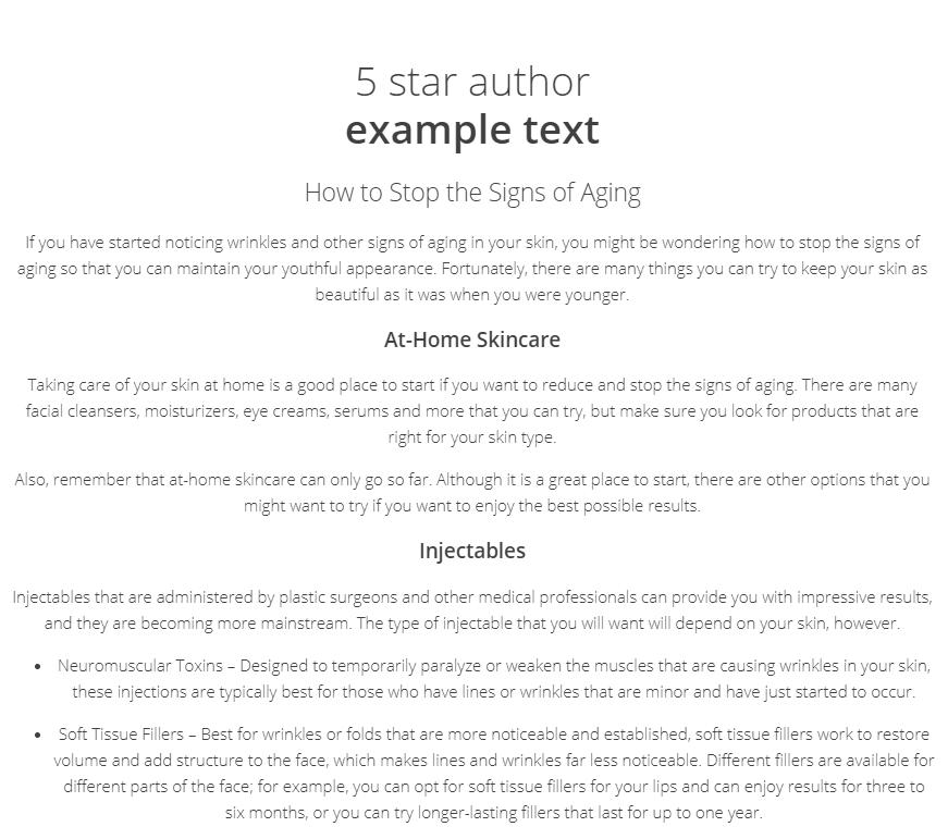 Textbroker-5-star-example-text