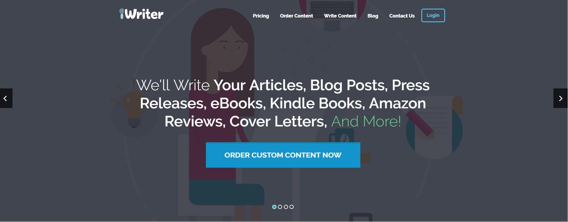iwriter order custom content