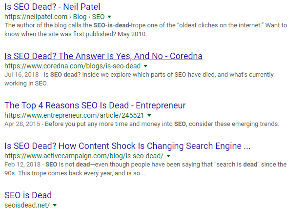 search-results-Is-SEO-dead?