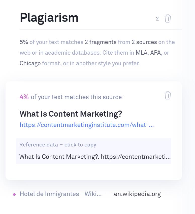 Crowd-Content-plagiarism-score