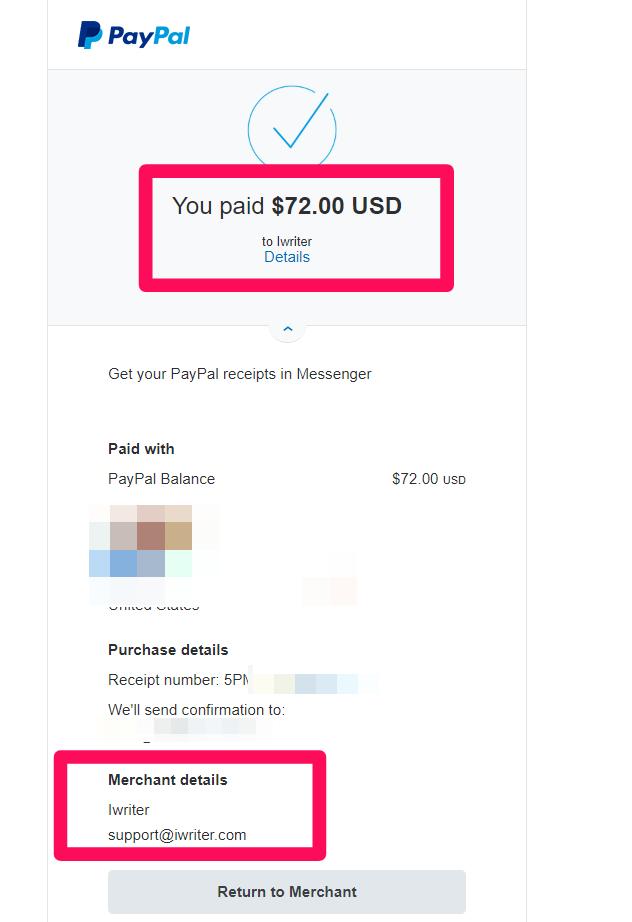 iWriter-payment-receipt