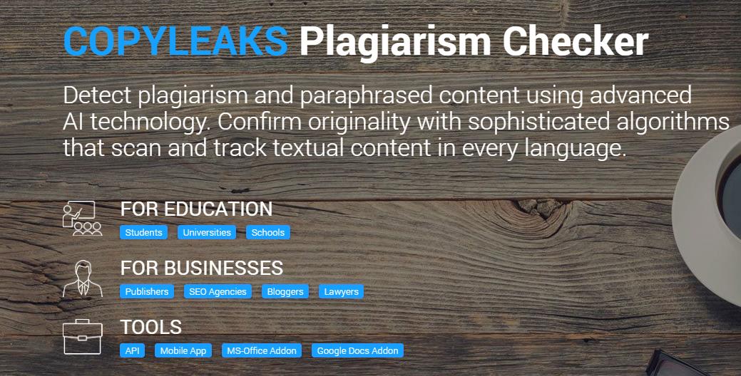 CopyLeaks Homepage