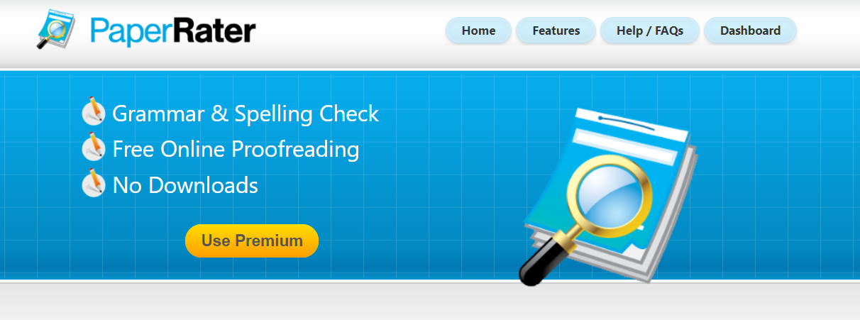 best plagiarism checker PaperRater homepage