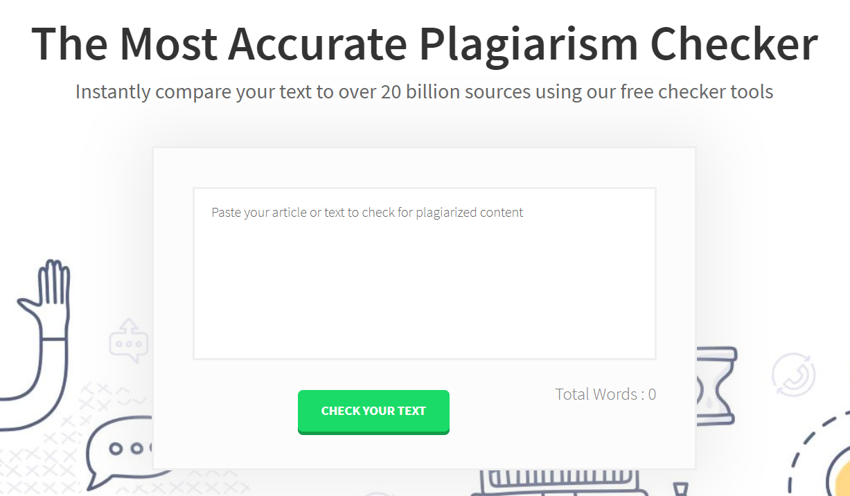 best plagiarism checker Plagly homepage