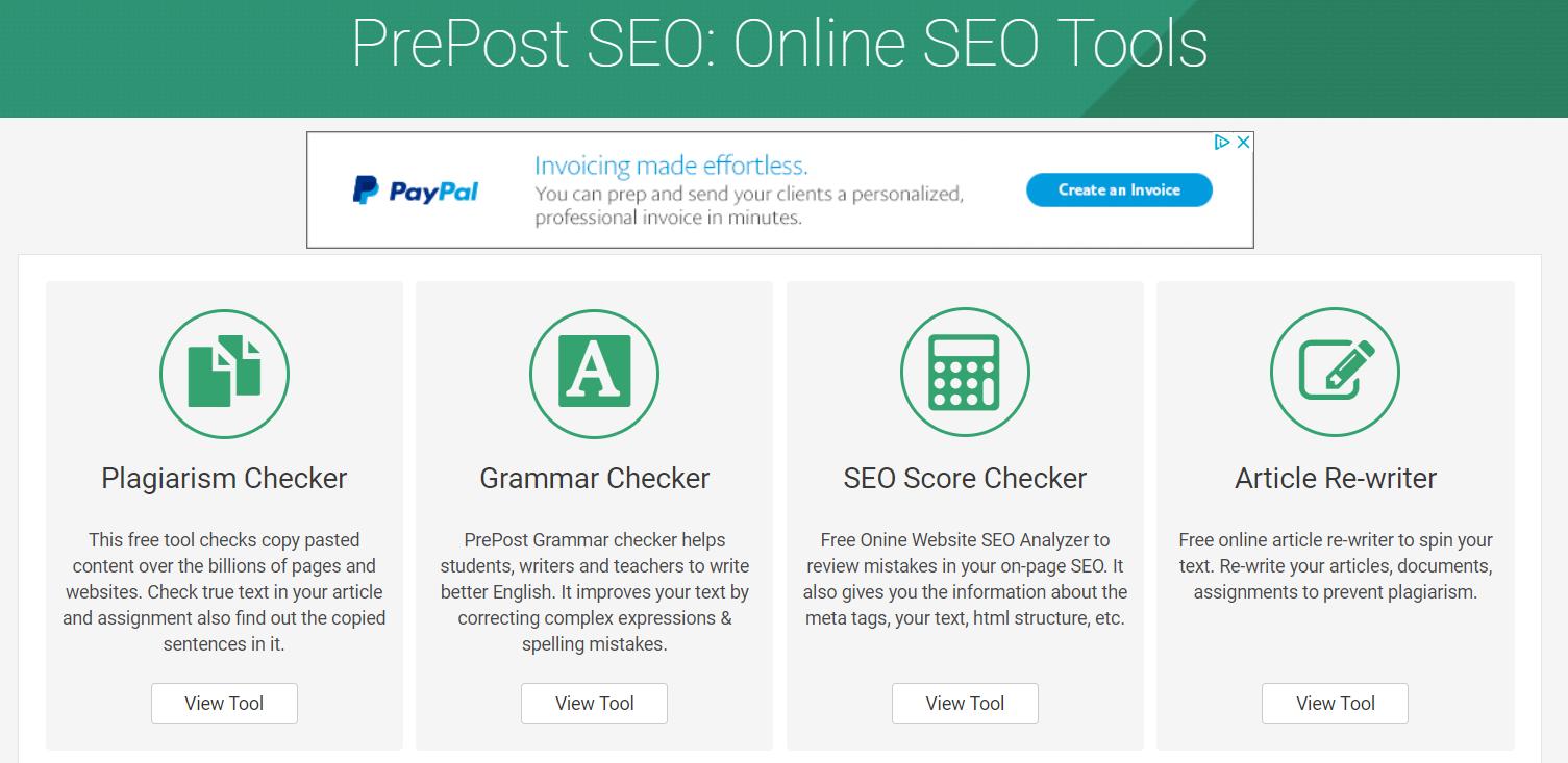best plagiarism checker PrePostSEO tools