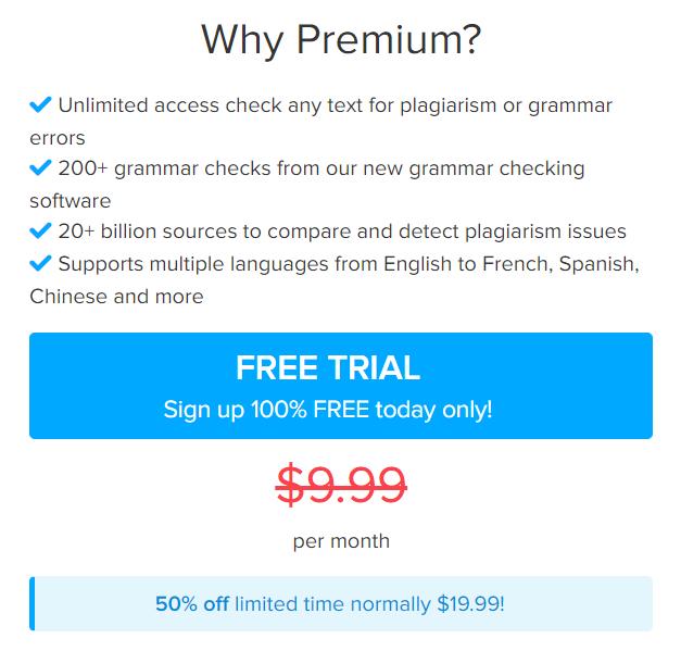 best plagiarism checker Plagly's premium plan.