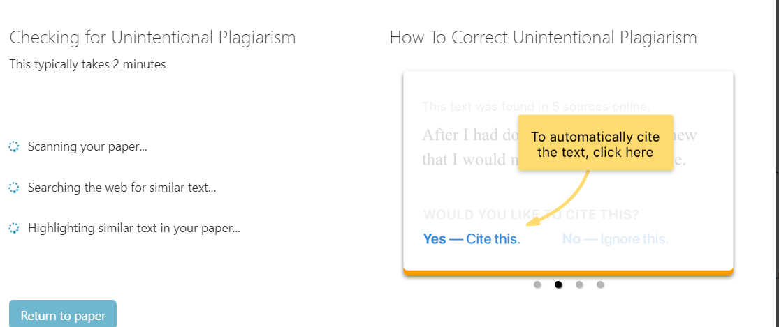 plagiarism sample article
