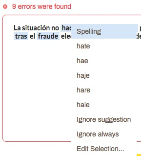 Example screenshot of Grammarix not having human review/ multilingual options.