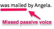 LanguageTool missed passive voice