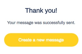 Example screenshot of Grammarix's email sent confirmation