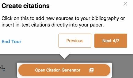 Citation Machine citation creation steps