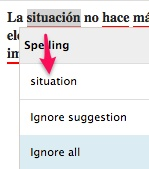 Example screenshot of GrammarCheck showing they're not multilingual.