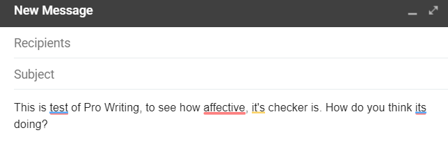 ProWritingAid Gmail grammar check comparison with Grammarly