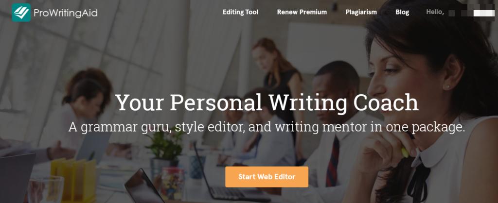 ProWritingAid Grammar Homepage