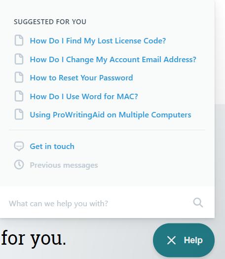 ProWritingAid Support Knowledge Base