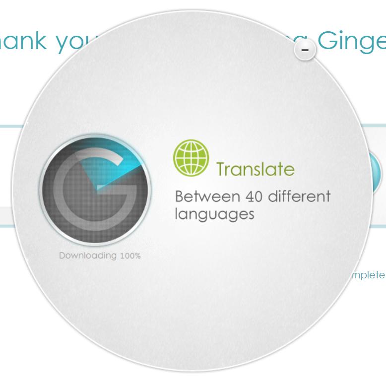 Example screenshot of Ginger Grammar Installing Window