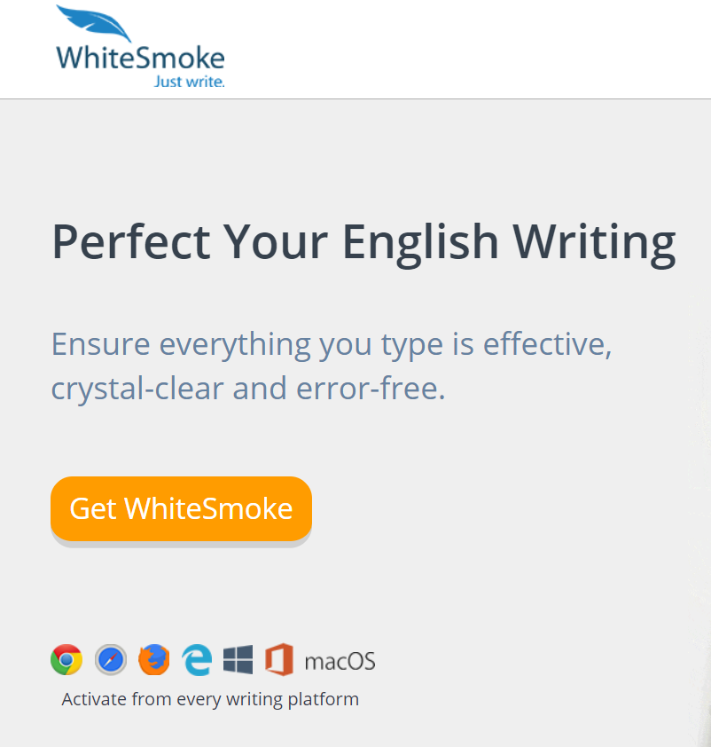 WhiteSmoke Homepage screenshot