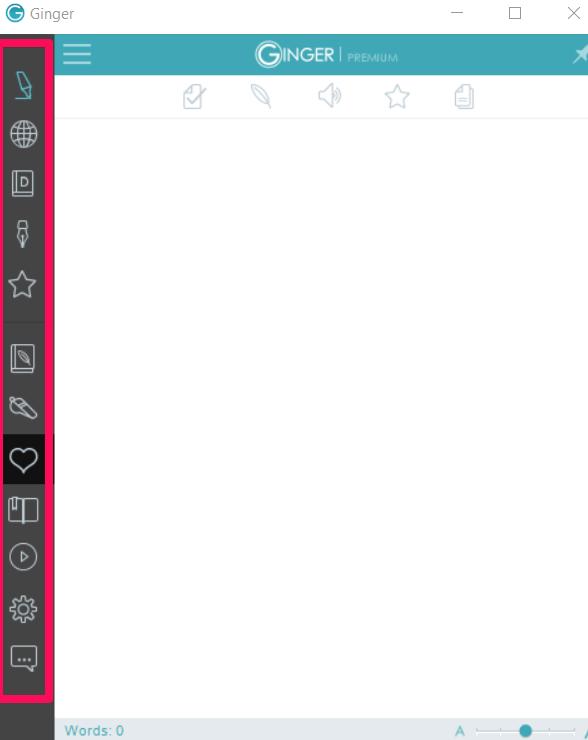 Ginger Grammar Checker Toolbar Options