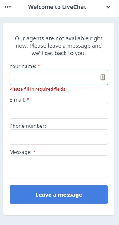 WhiteSmoke Live Chat Option