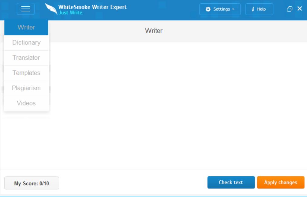 WhiteSmoke Writing Editor
