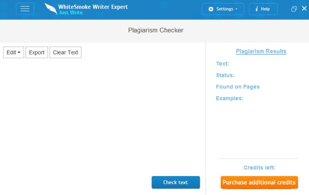 WhiteSmoke Plagiarism Checker example