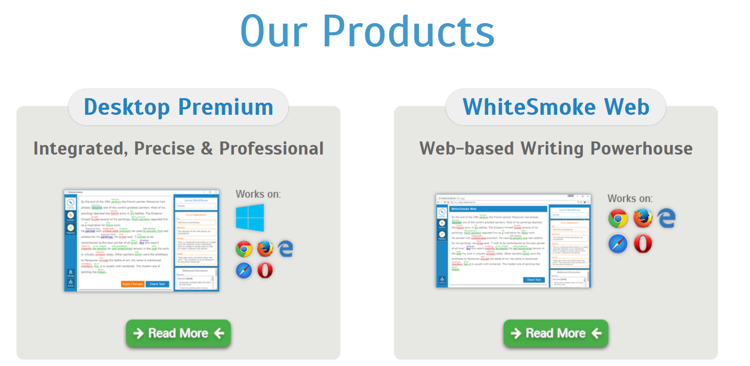 best plagiarism checker WhiteSmoke device compatibility
