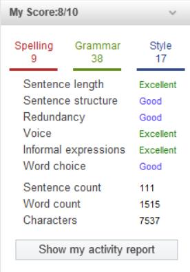 best plagiarism checker WhiteSmoke scoring system