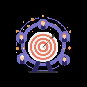 Illustration of a bullseye
