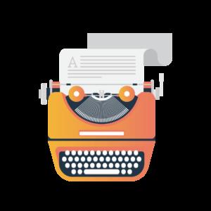 Illustration of a typewriter