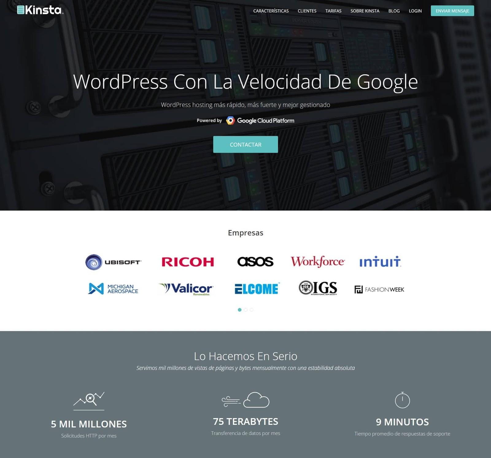 Kinsta's Spanish Hosting Launch