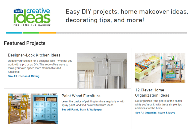 Lowe's creative ideas blog