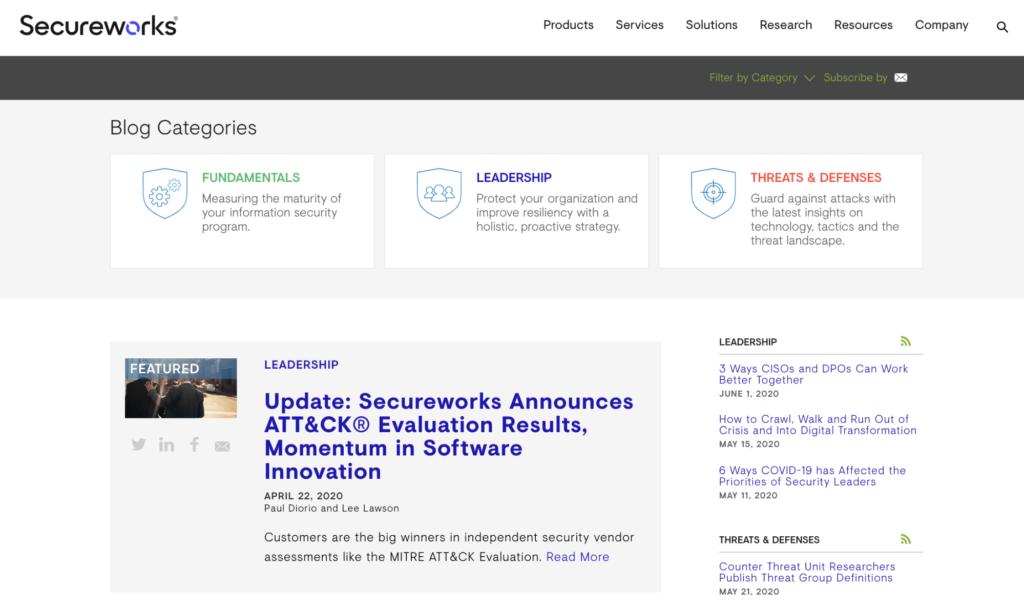 Secureworks blog