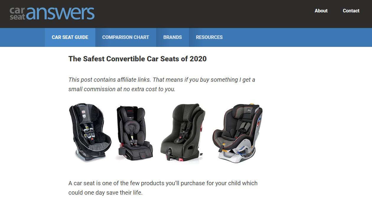 Carseat Answers homepage