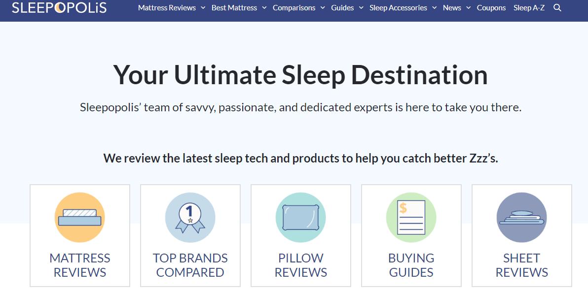 Sleepopolis homepage