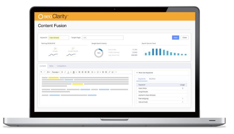 SEOClarity's Content Fusion
