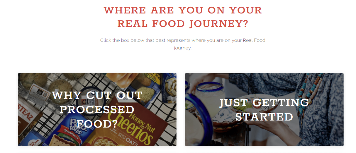 Showing content based on where the reader is in their journey