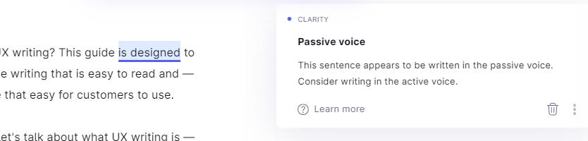 grammarly passive voice