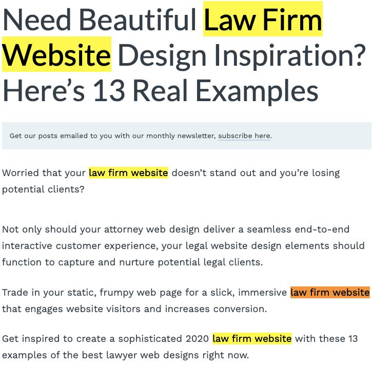 SEO content writing design inspiration