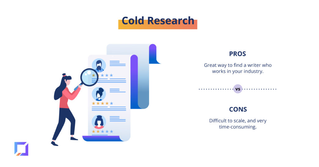 pros and cons of cold research