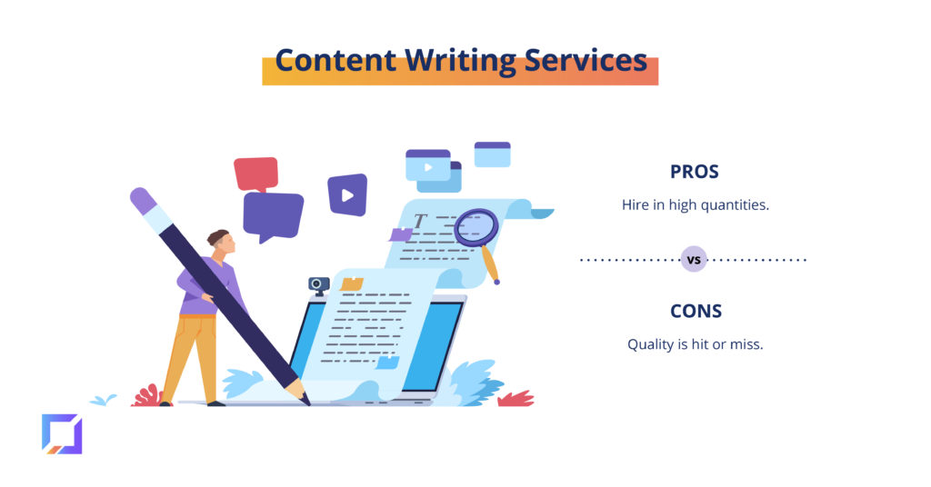 pros and cons of content writing services