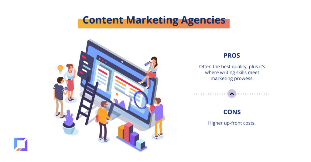 pros and cons of content marketing agencies