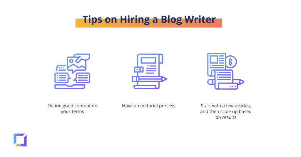 tips on hiring a blog writer