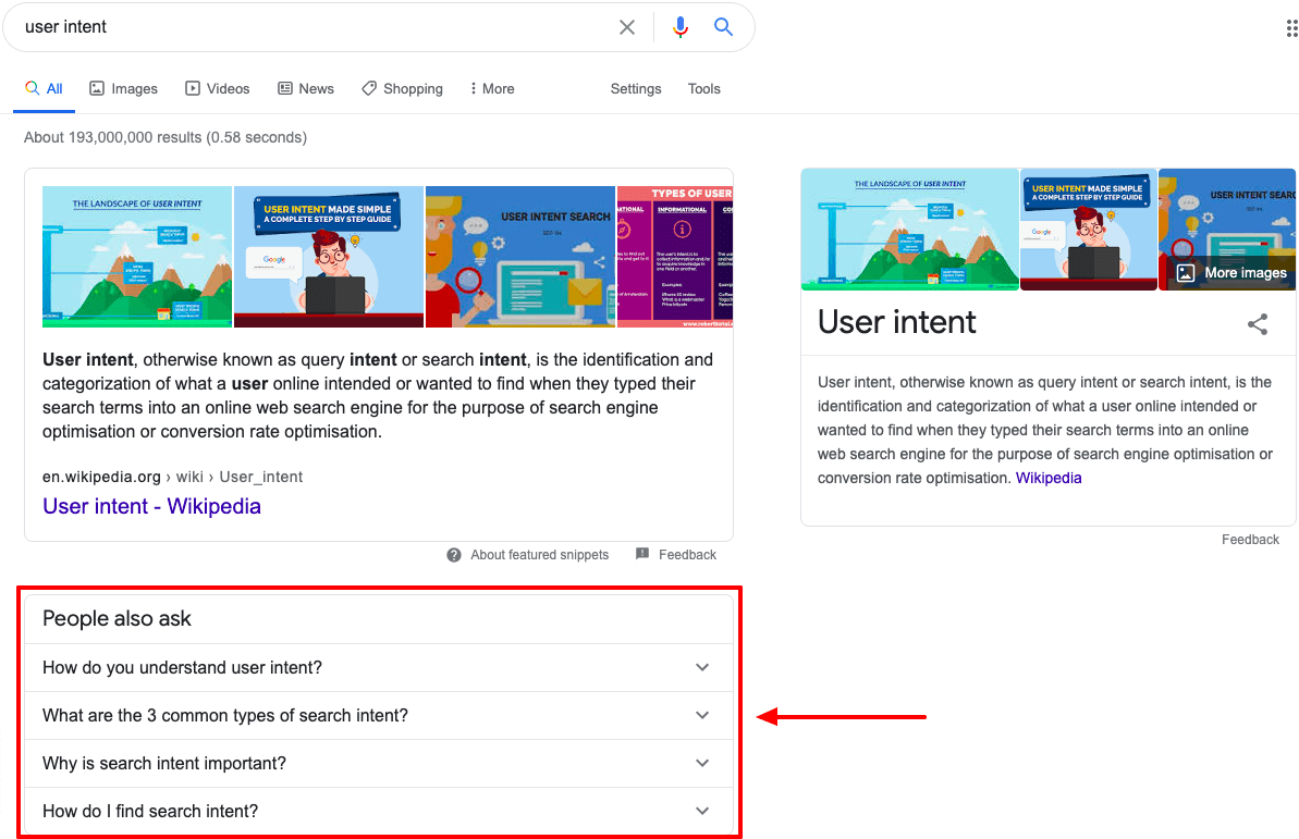 using Ubersuggest to discover similar terms