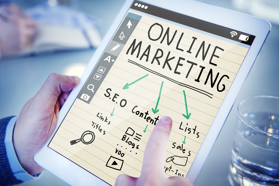 graphic about online marketing