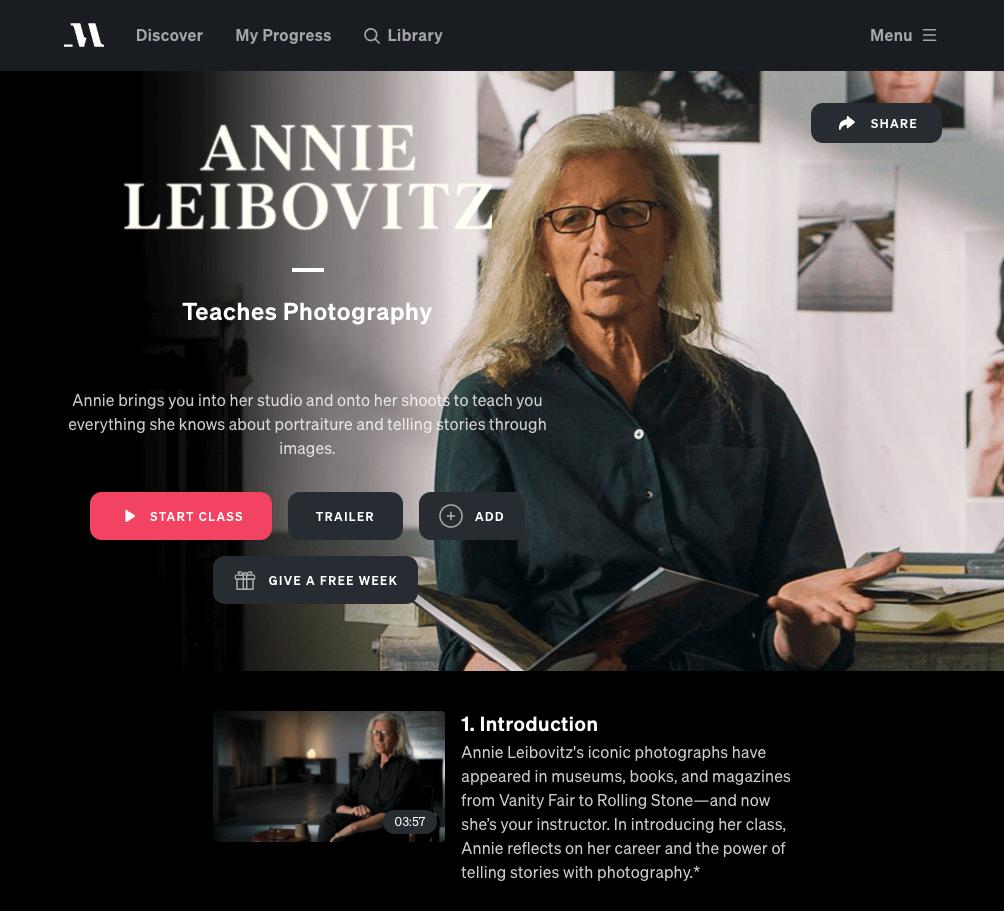 Annie Leibovitz masterclass review