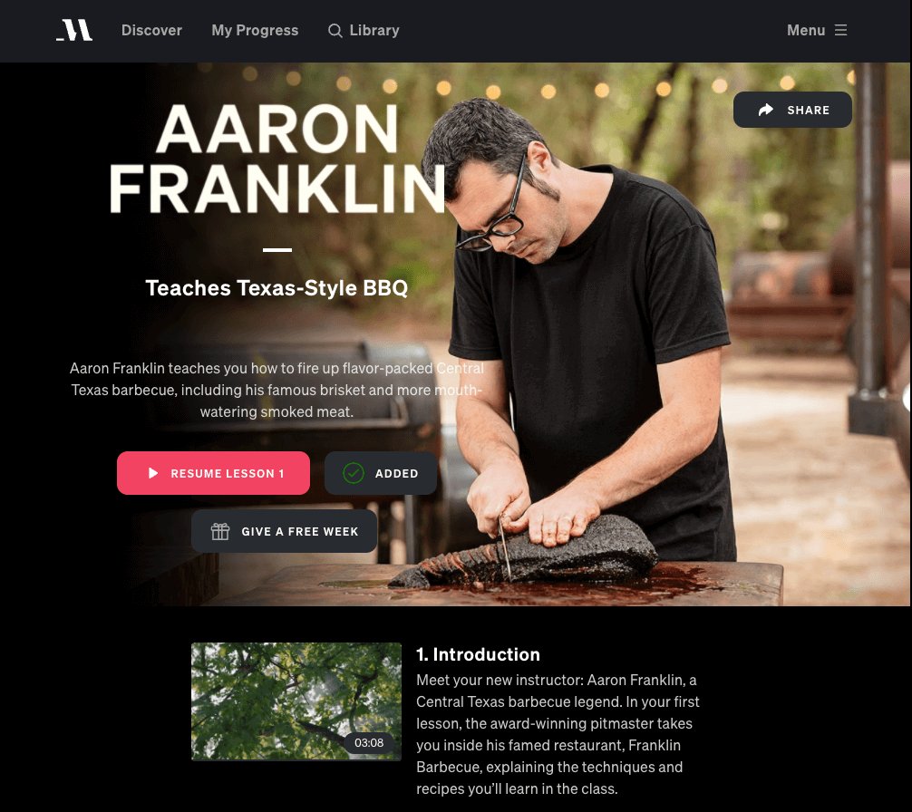 aaron franklin barbeque masterclass review
